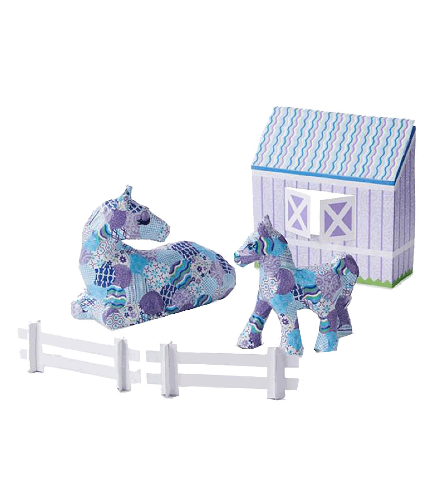 HORSE E PONY DECOUPAGE